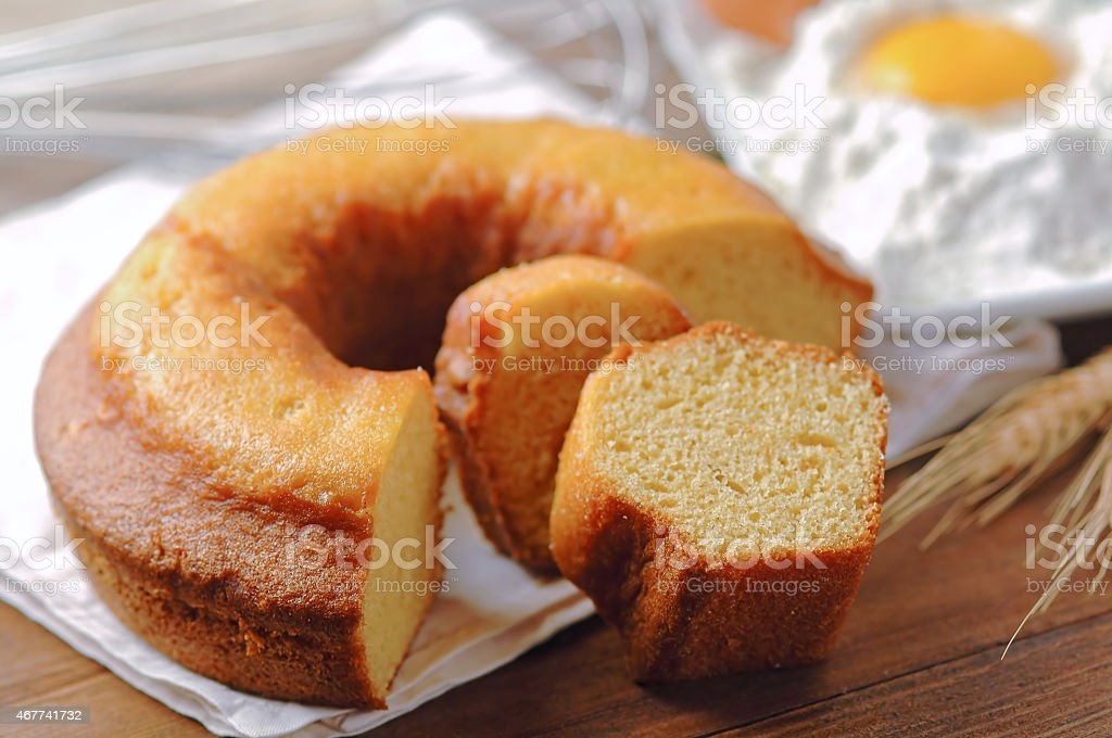 Ciambellone, traditional italian cake stock photo