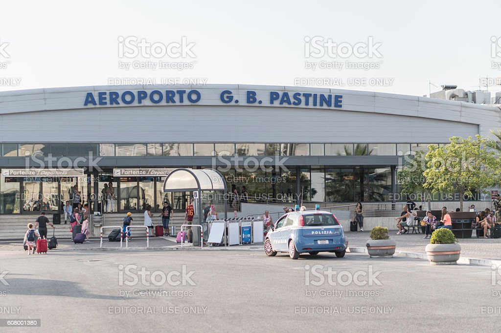 Rome, Italy - July 8, 2016: Ciampino airport entrance stock photo