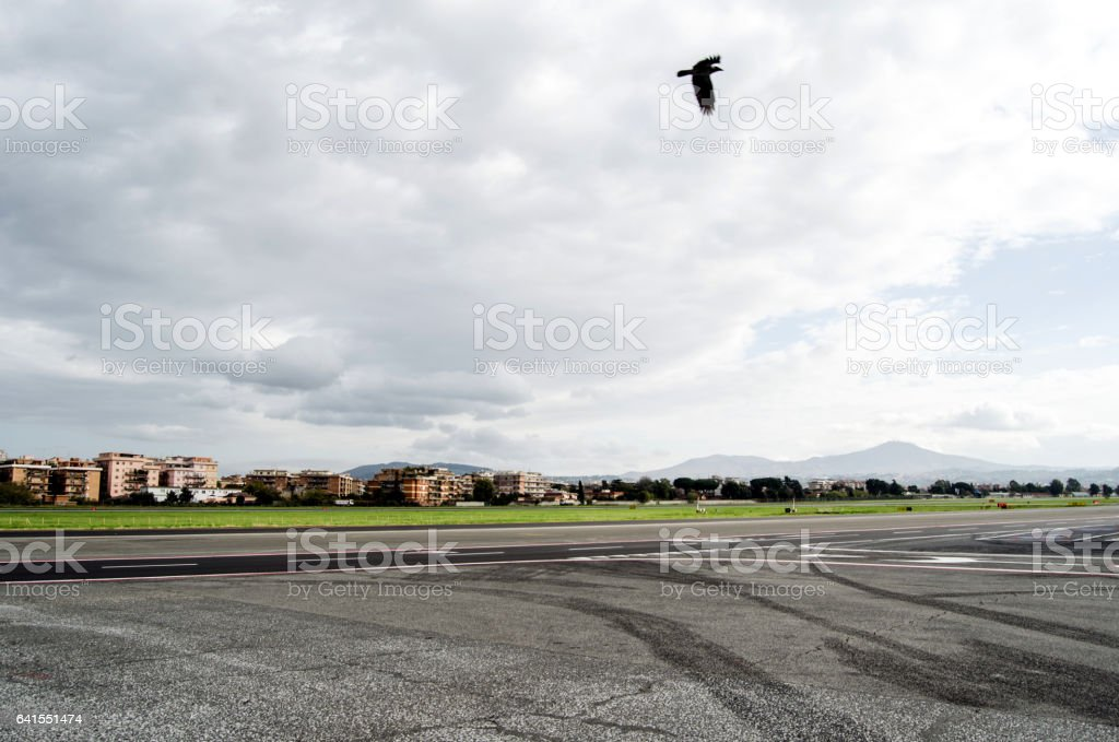 Ciampino airport stock photo