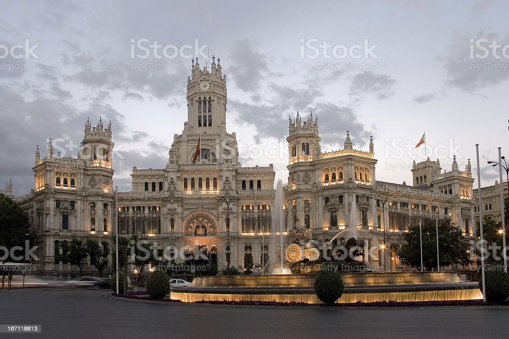 Cibeles square, Madrid royalty-free stock photo