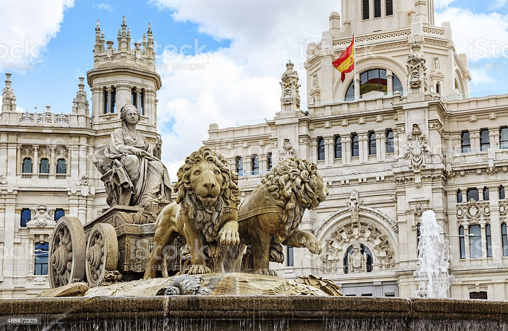 Cibeles Square, Madrid stock photo
