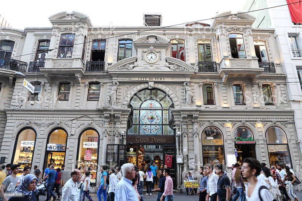 Cicek Pasaji in Istanbul stock photo