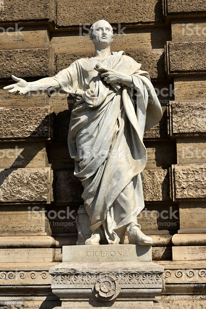 Cicero the ancient roman senator stock photo