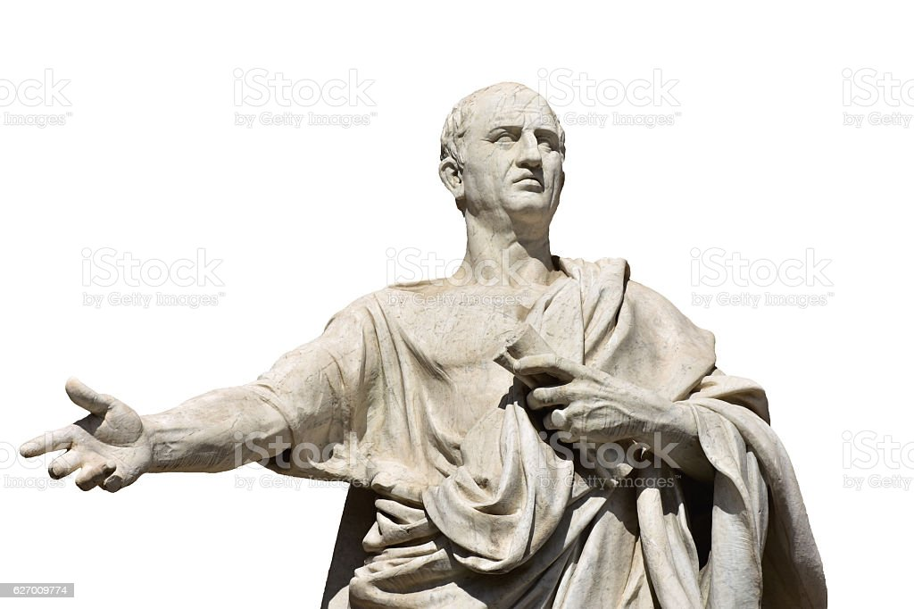 Cicero, the ancient roman senator stock photo