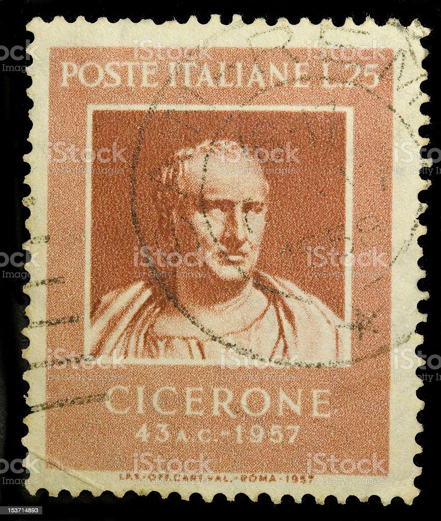 Cicero vintage stamp stock photo