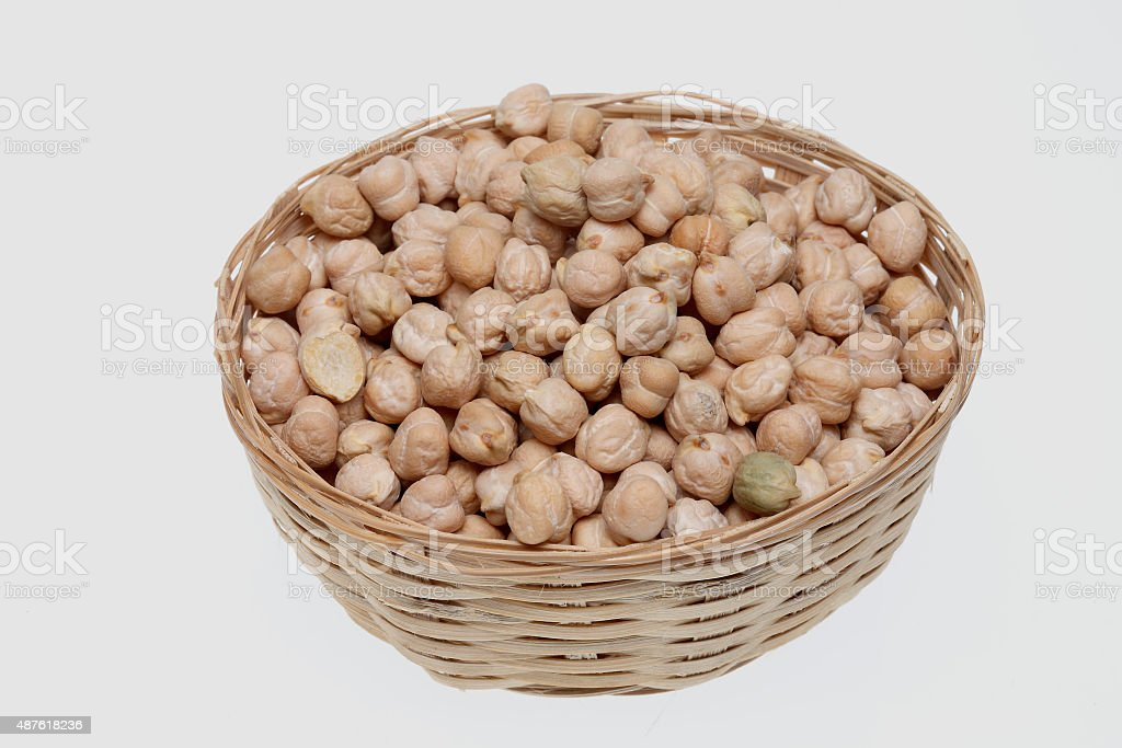 Cickpeas a kind of legume, vegetable, food stock photo