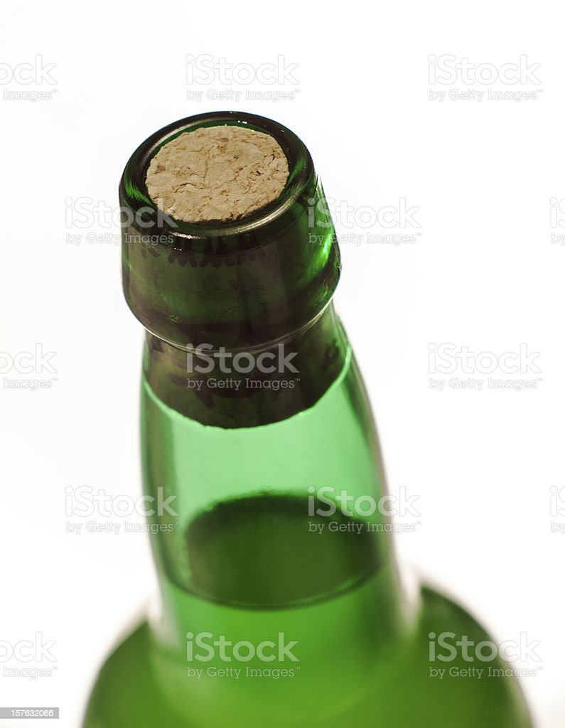 Cider bottle royalty-free stock photo