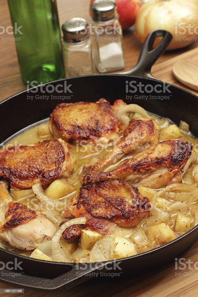 Cider Braised Chicken stock photo