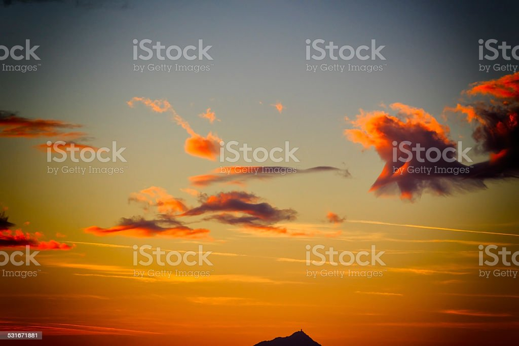 Ciel cr?pusculaire - lever de soleil stock photo