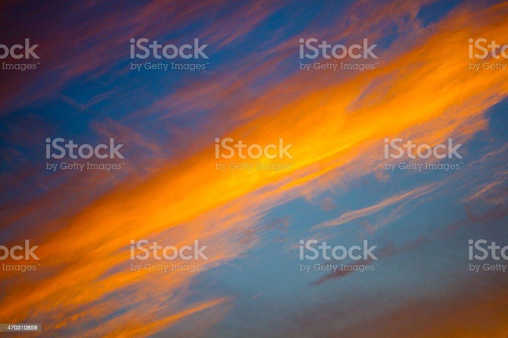 ciel sky color? de fin du jour stock photo