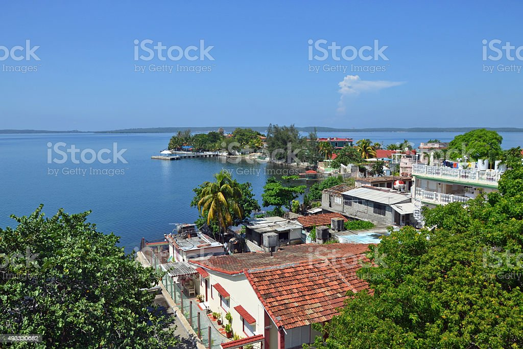 Cienfuegos Bay stock photo