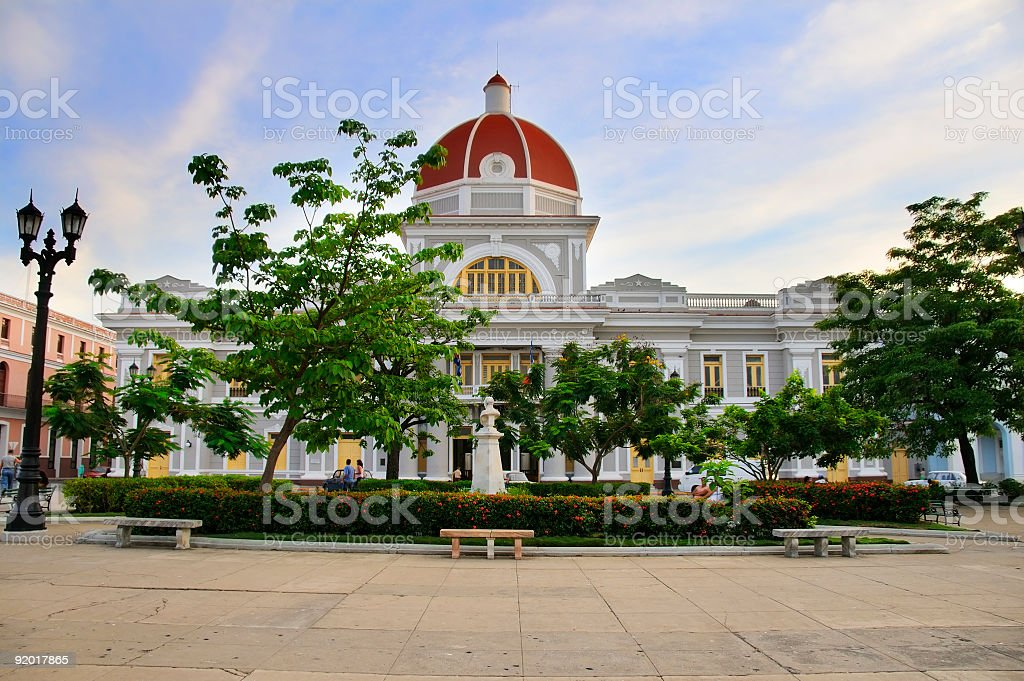 Cienfuegos city hall stock photo