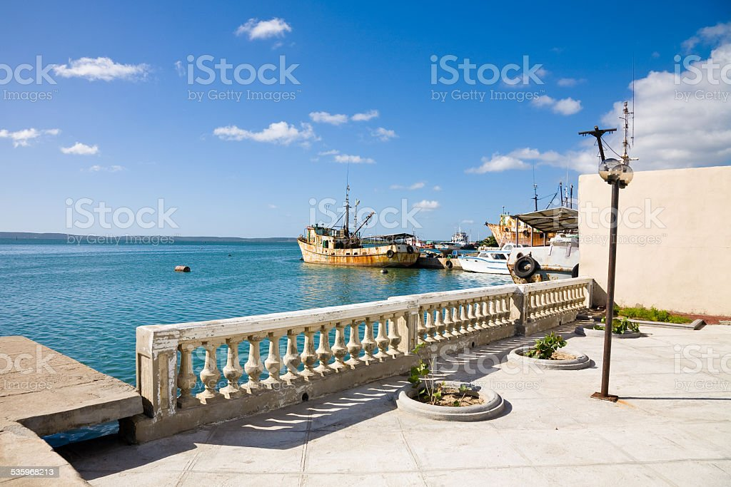 Cienfuegos harbor, Cuba stock photo
