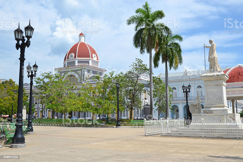 Cienfuegos Parque Jose Marti stock photo