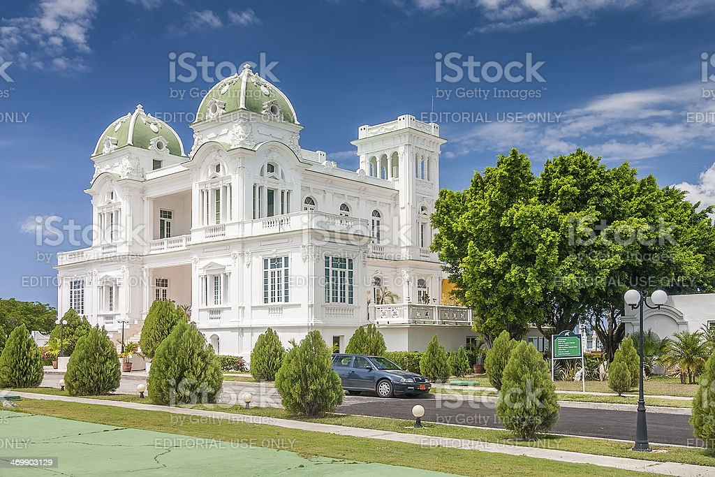 Cienfuegos tennis club building under bright sun stock photo