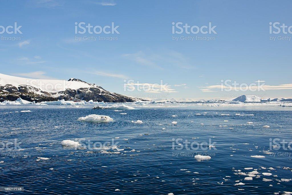 Cierva Cove Ice stock photo