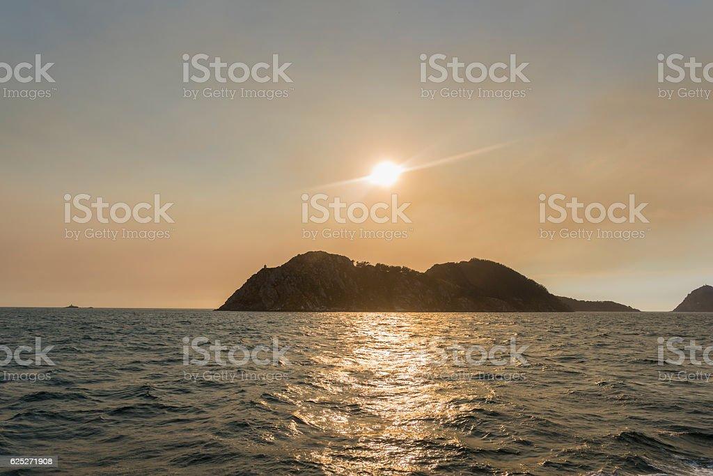 Cies Islands. stock photo