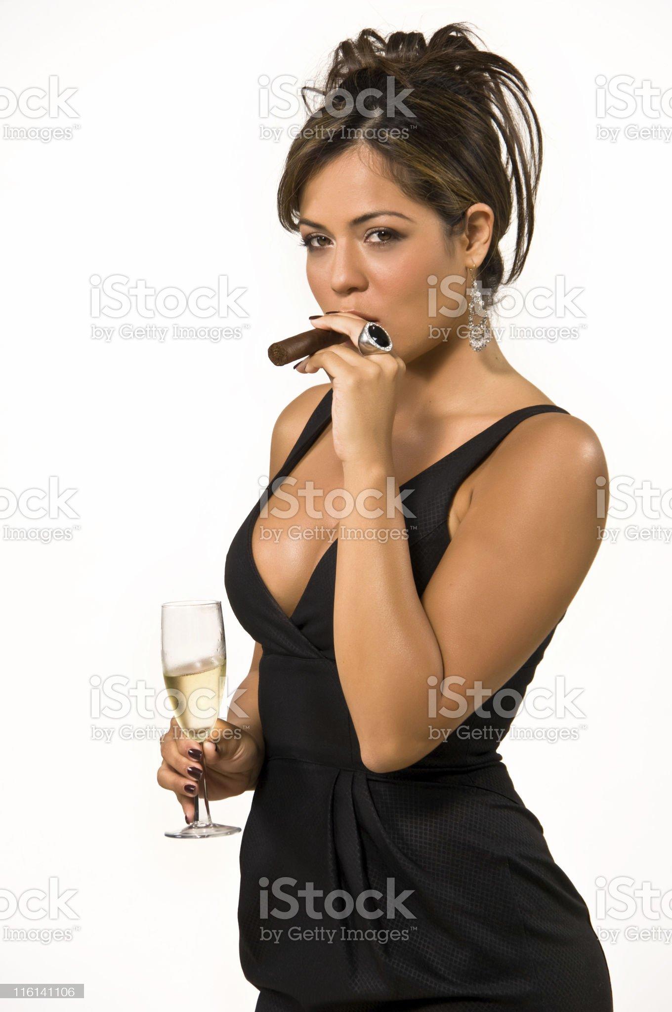 Cigar at midnight royalty-free stock photo