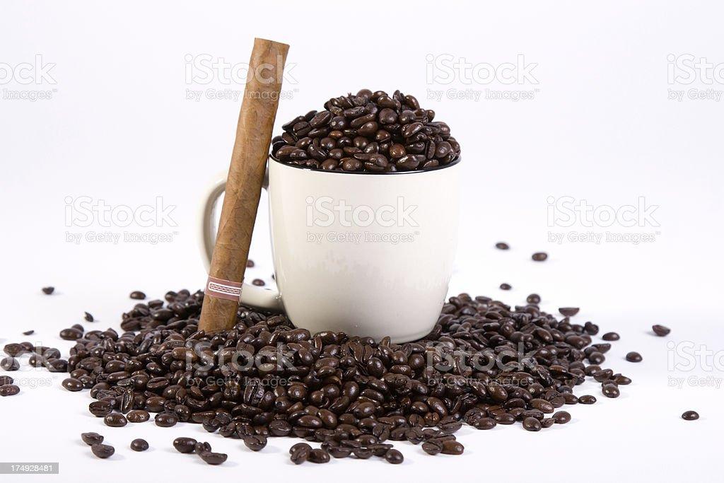 cigar coffe beans royalty-free stock photo