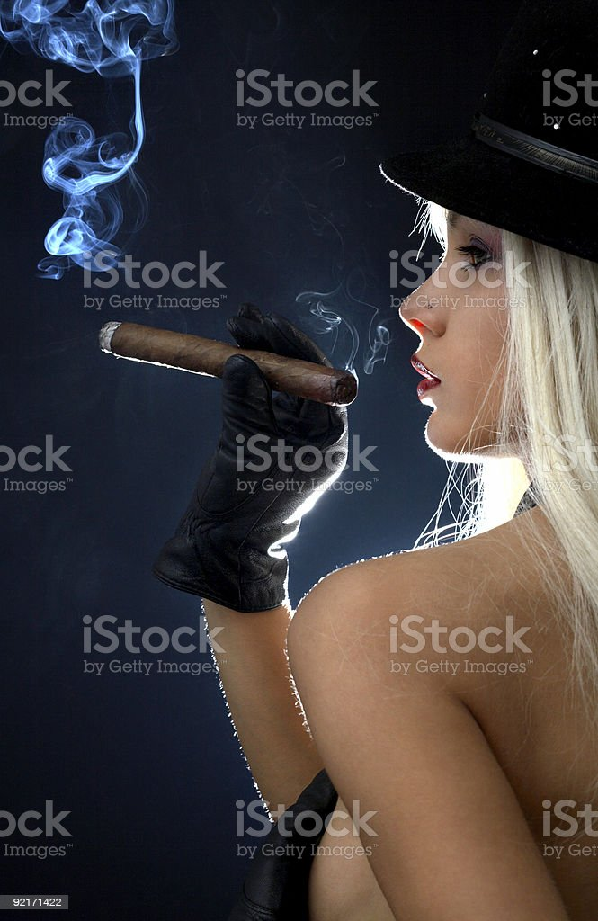 cigar girl #2 royalty-free stock photo