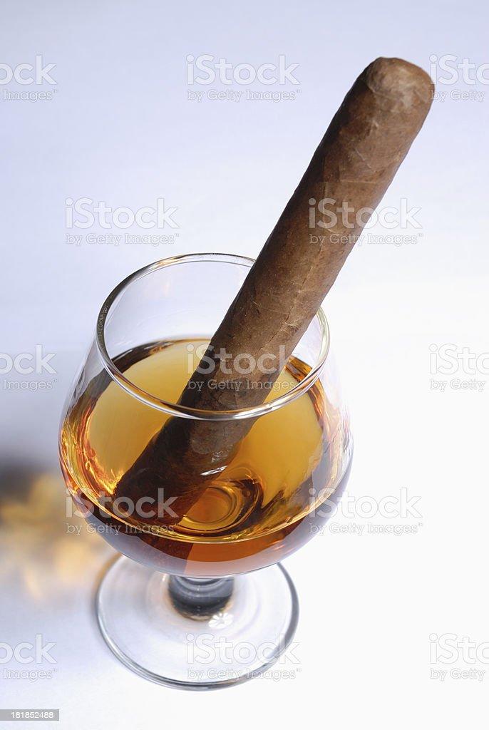 Cigar in Brandy royalty-free stock photo