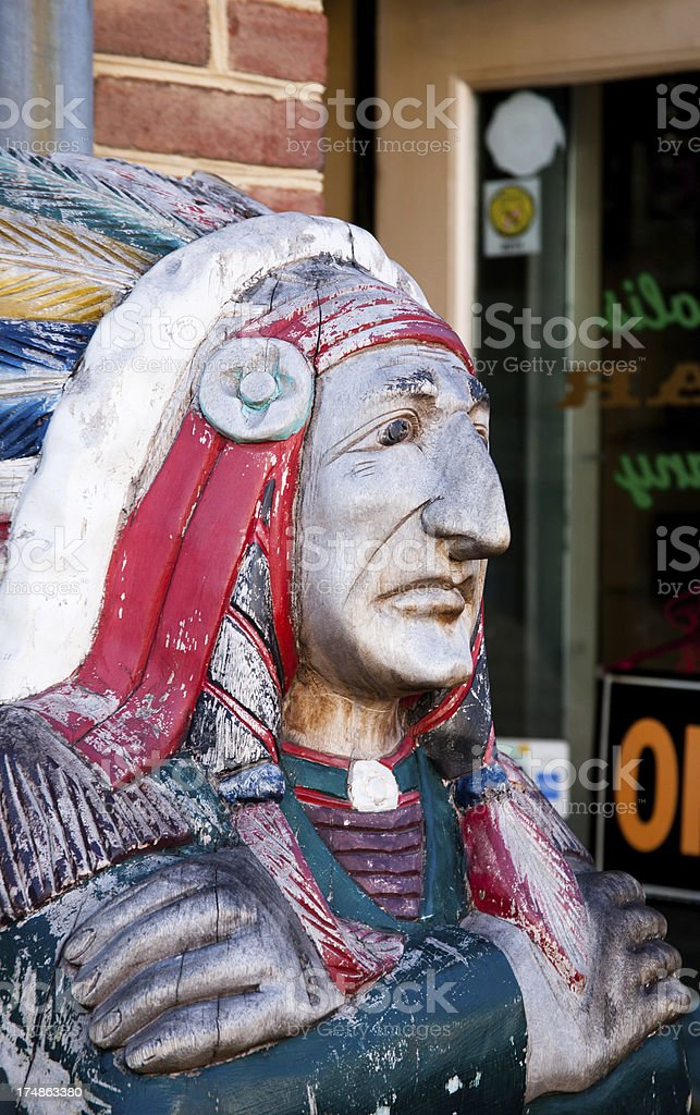 Cigar Store Indian royalty-free stock photo