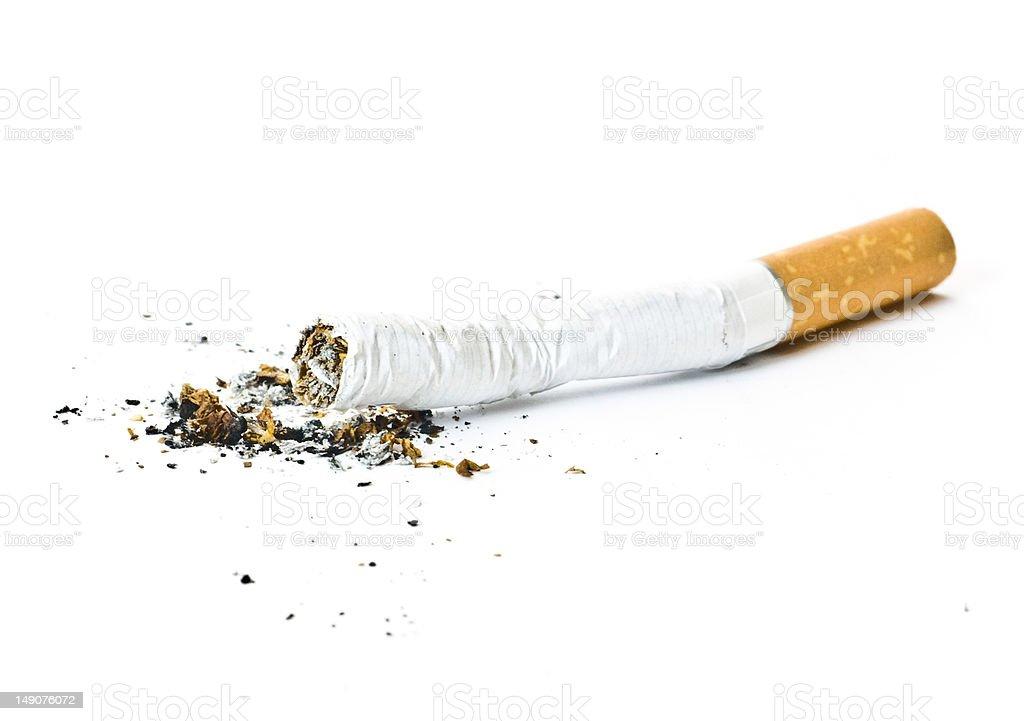 Cigarete butt stock photo