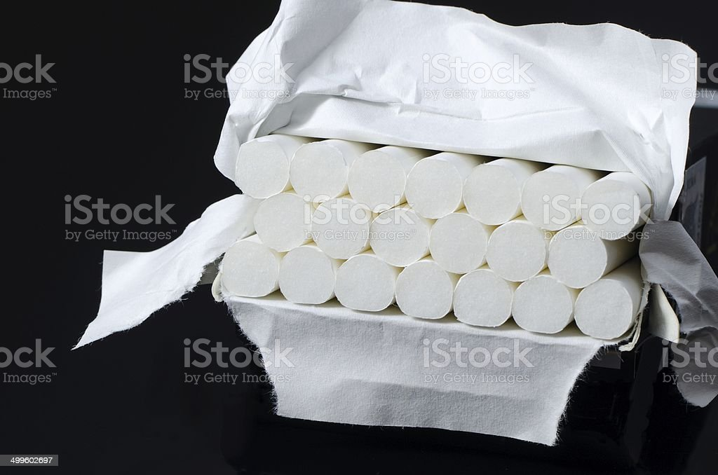 Cigarets box stock photo