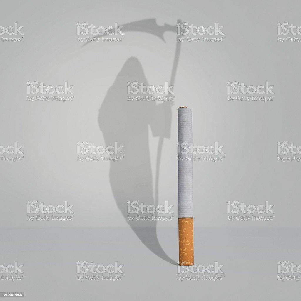 Cigarette addiction stock photo