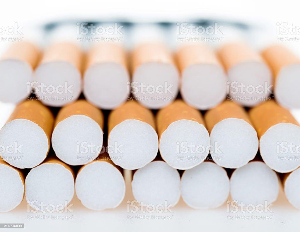 Cigarette background stock photo