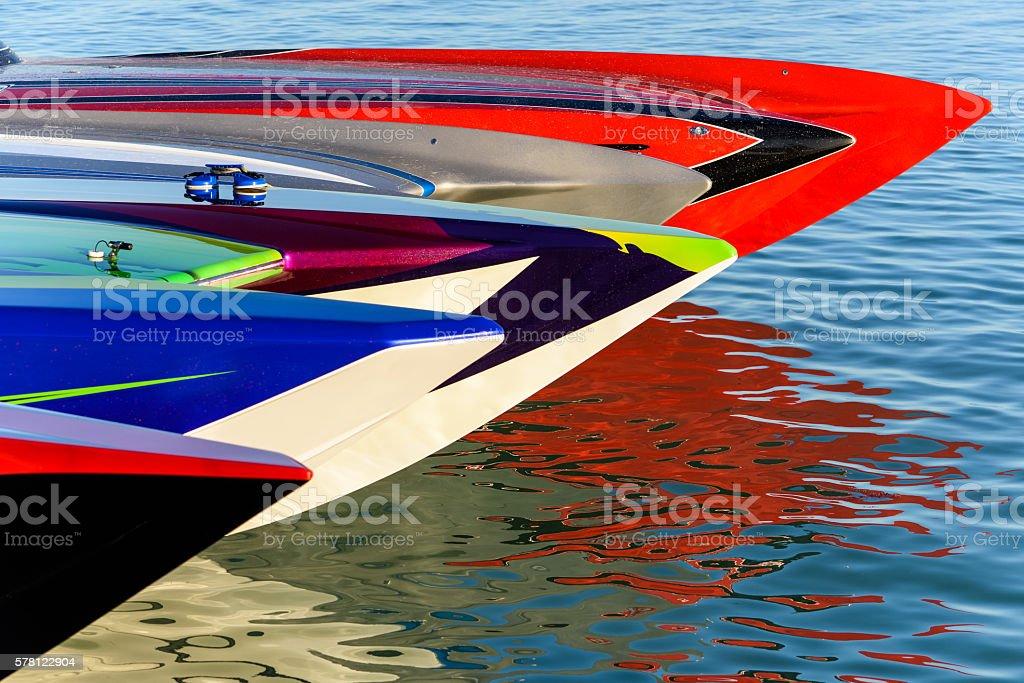 Cigarette Boats stock photo