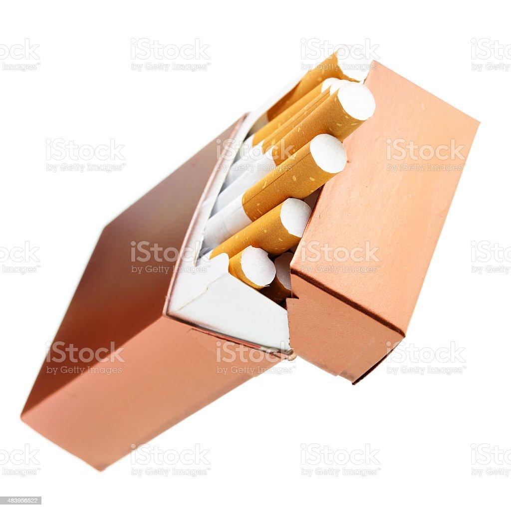 Cigarette box stock photo