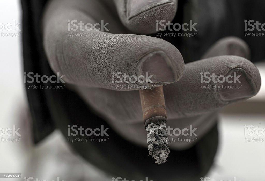 cigarette break stock photo
