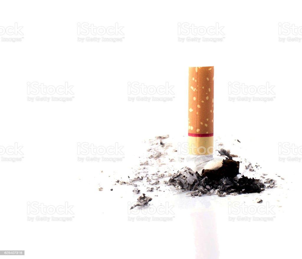 Cigarette butt isolated stock photo