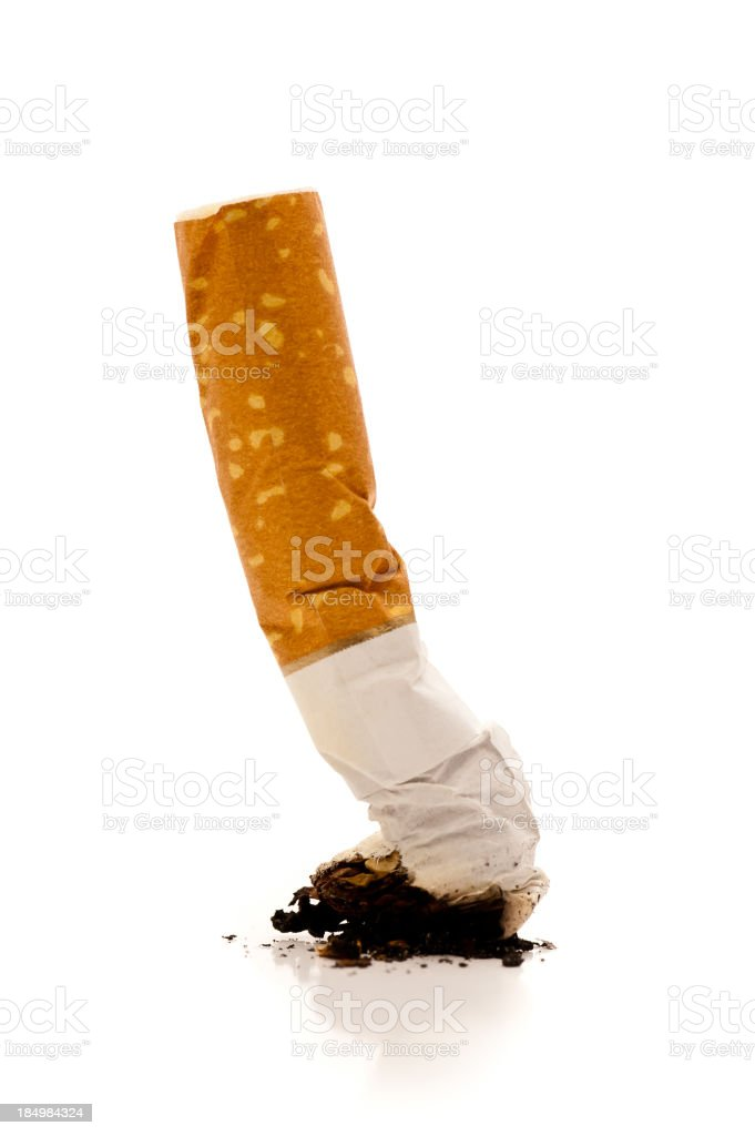 Cigarette butt royalty-free stock photo