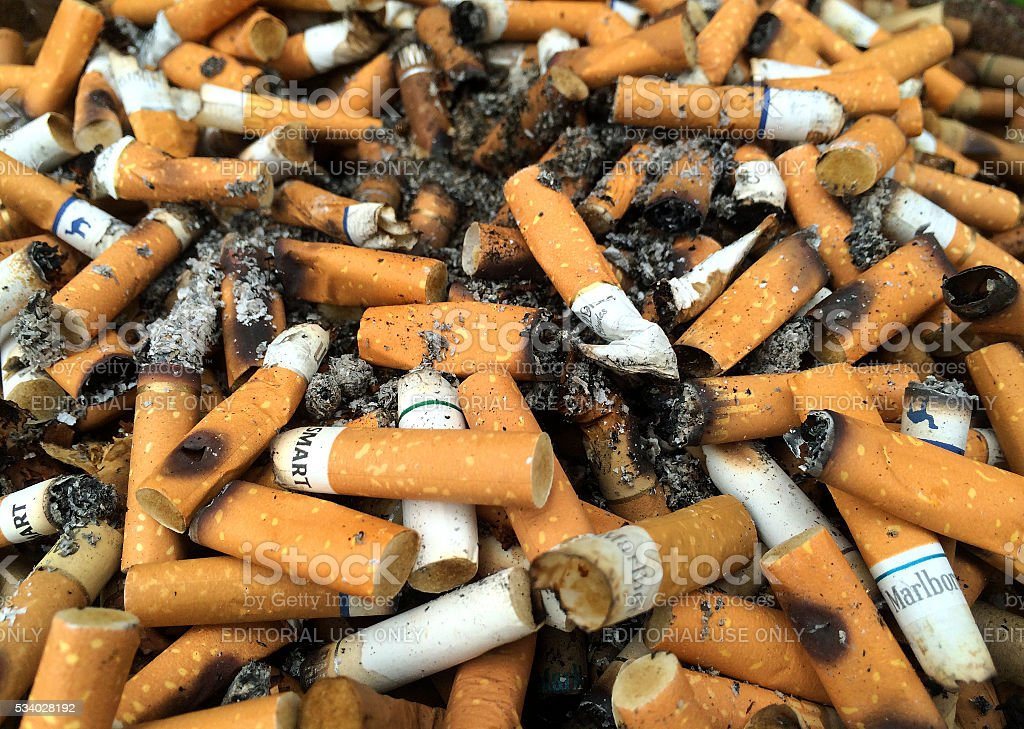 Cigarette Butts 4 stock photo