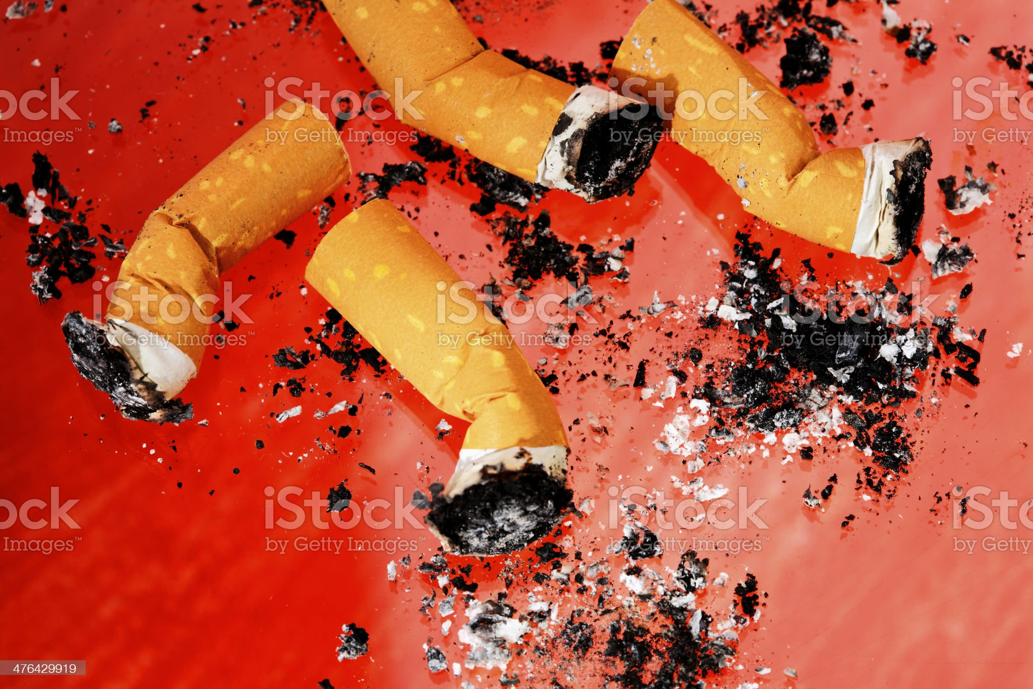 Cigarette Butts royalty-free stock photo