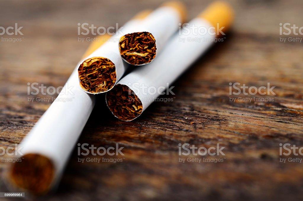 Cigarette Close Up stock photo