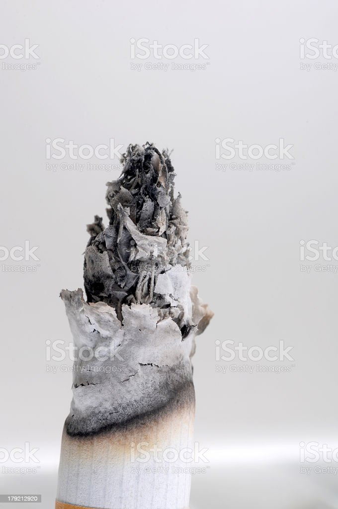 Cigarette end royalty-free stock photo