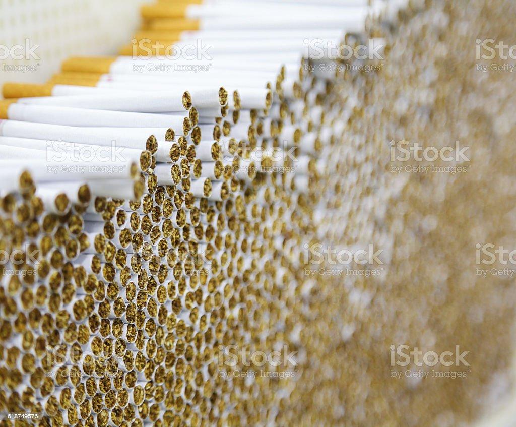 Cigarette factory stock photo