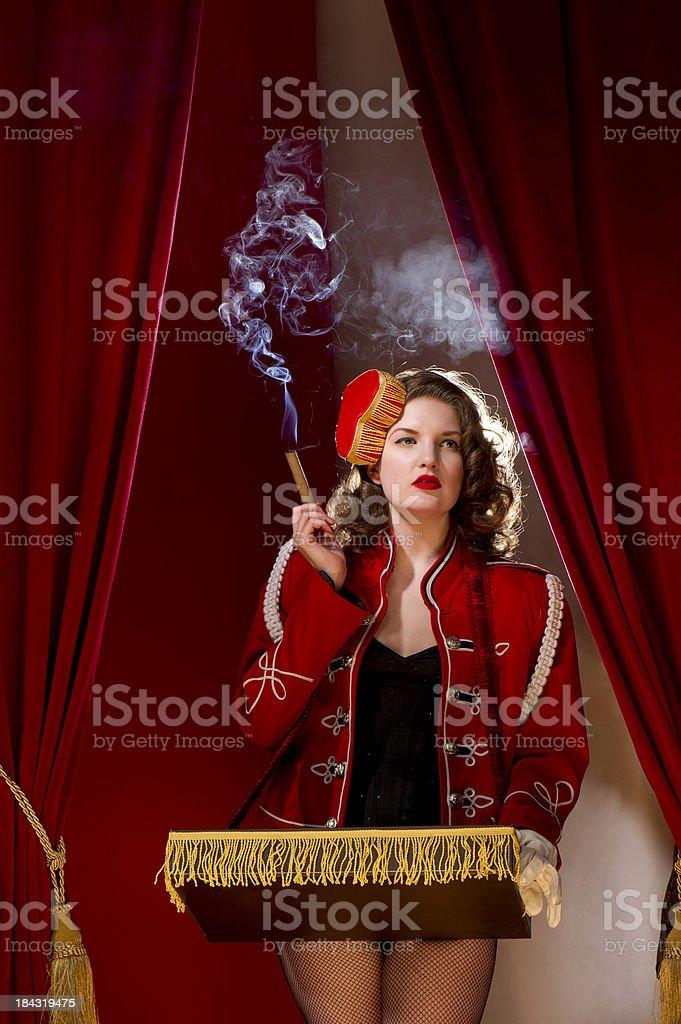 cigarette girl stock photo