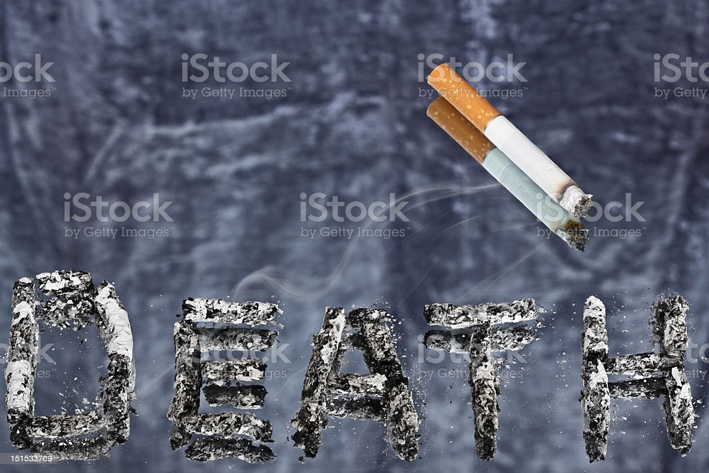Cigarette is small killer. royalty-free stock photo