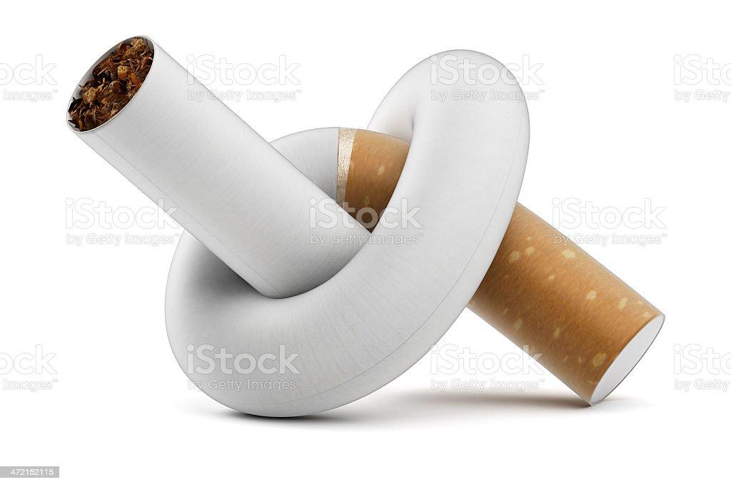 Cigarette Knot stock photo