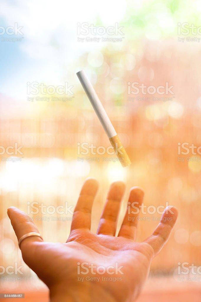 Cigarette - Levitation stock photo