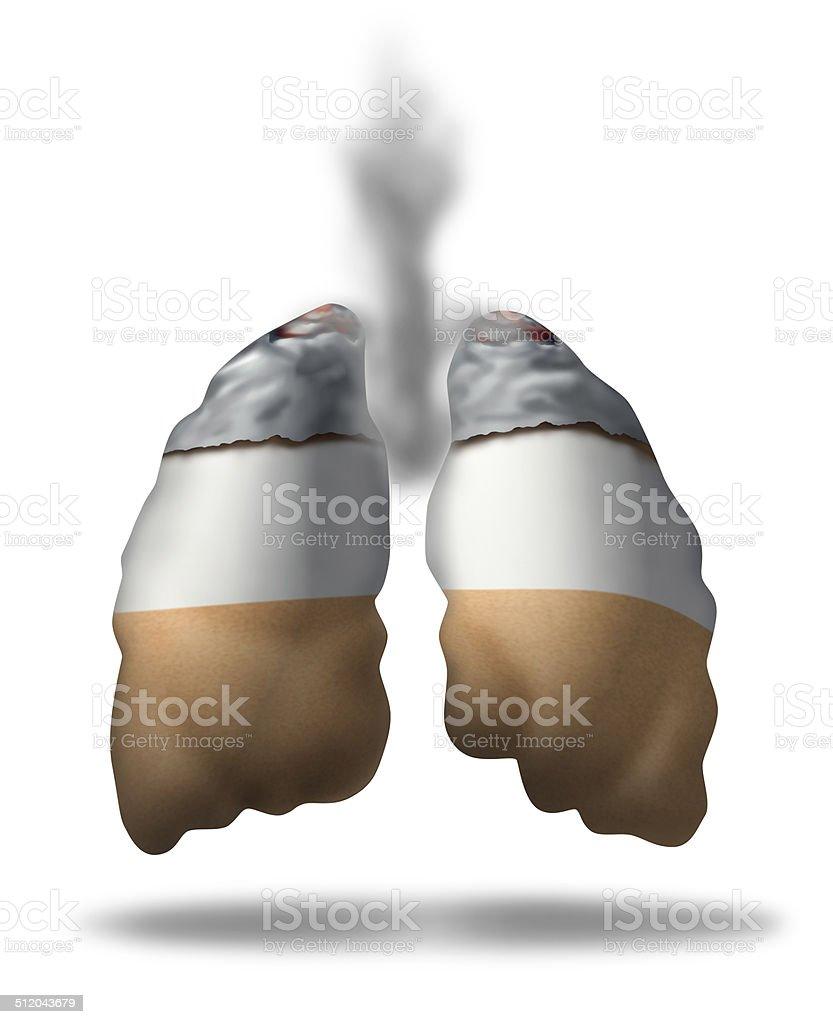 Cigarette Lungs stock photo