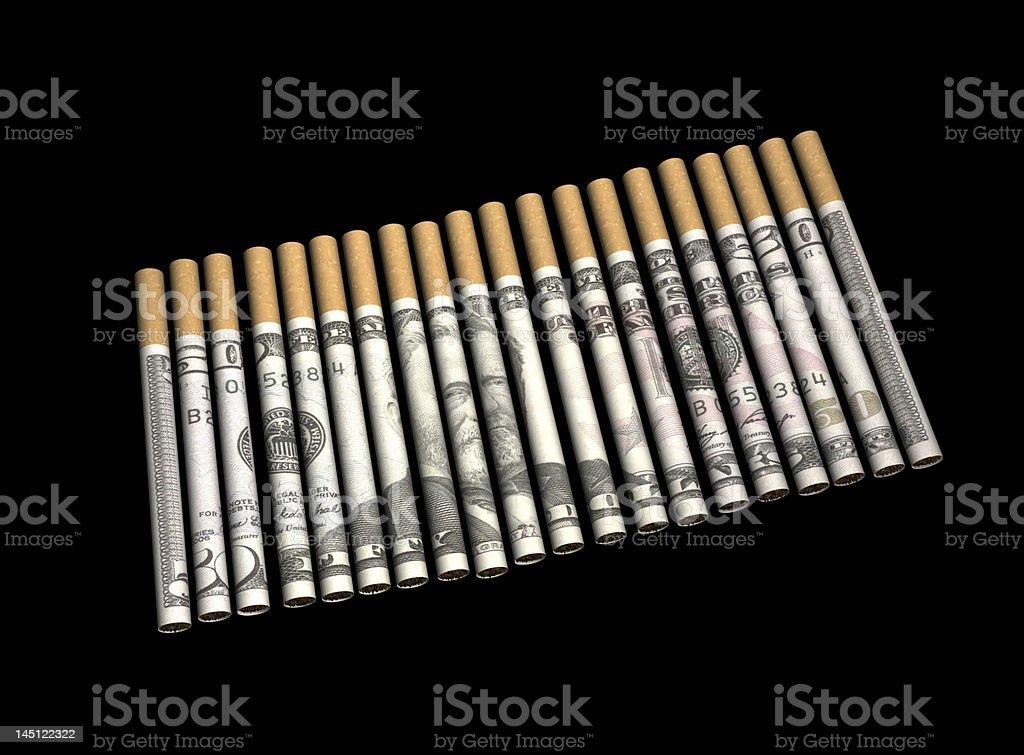 Cigarette de l'argent avec un Tracé de détourage photo libre de droits
