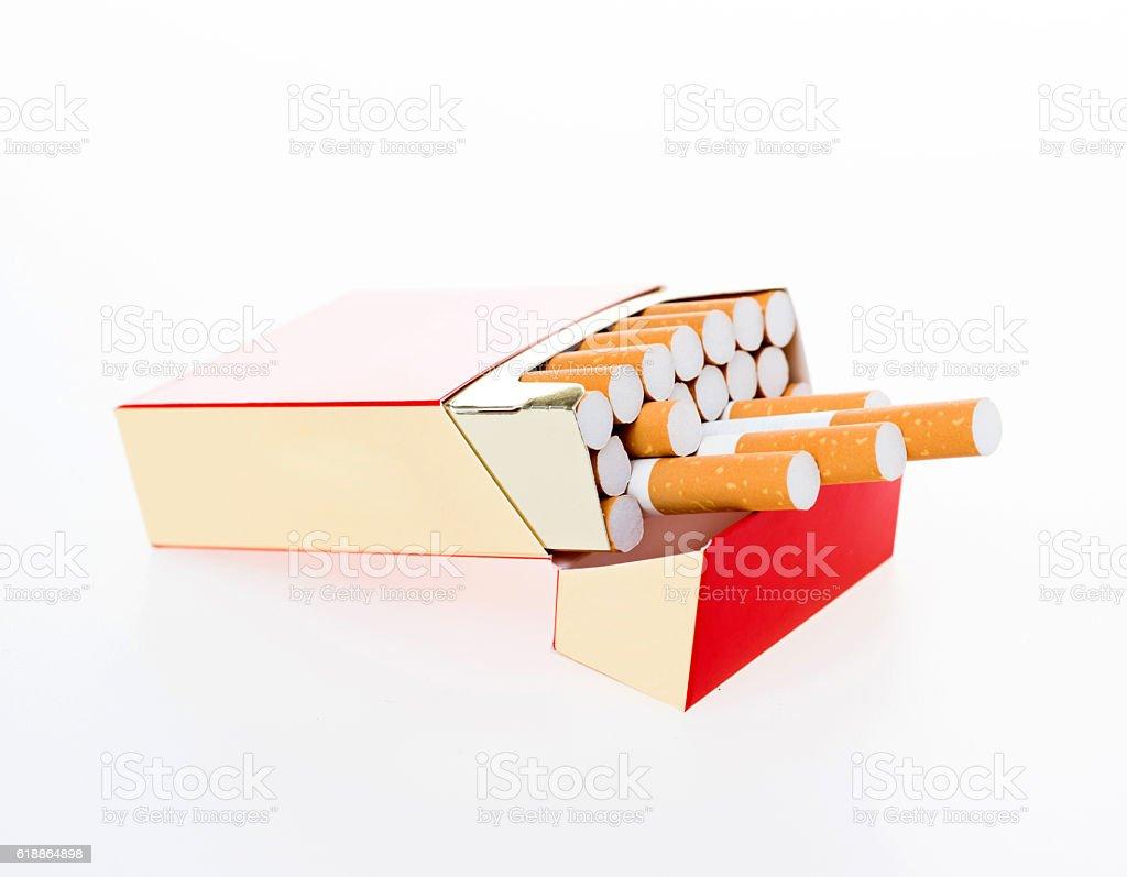Cigarette pack stock photo