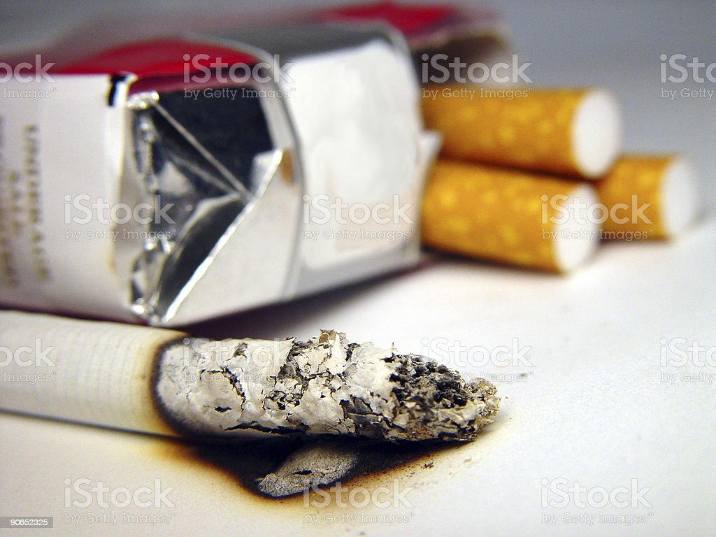 Cigarette & Pack royalty-free stock photo