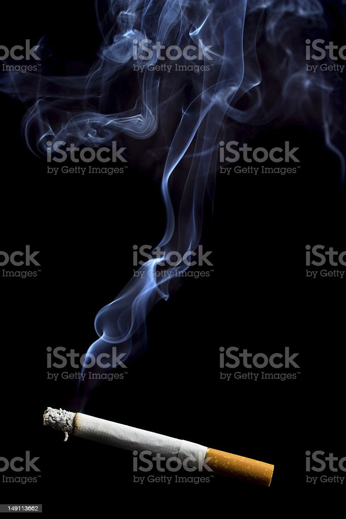 Cigarette smoke royalty-free stock photo