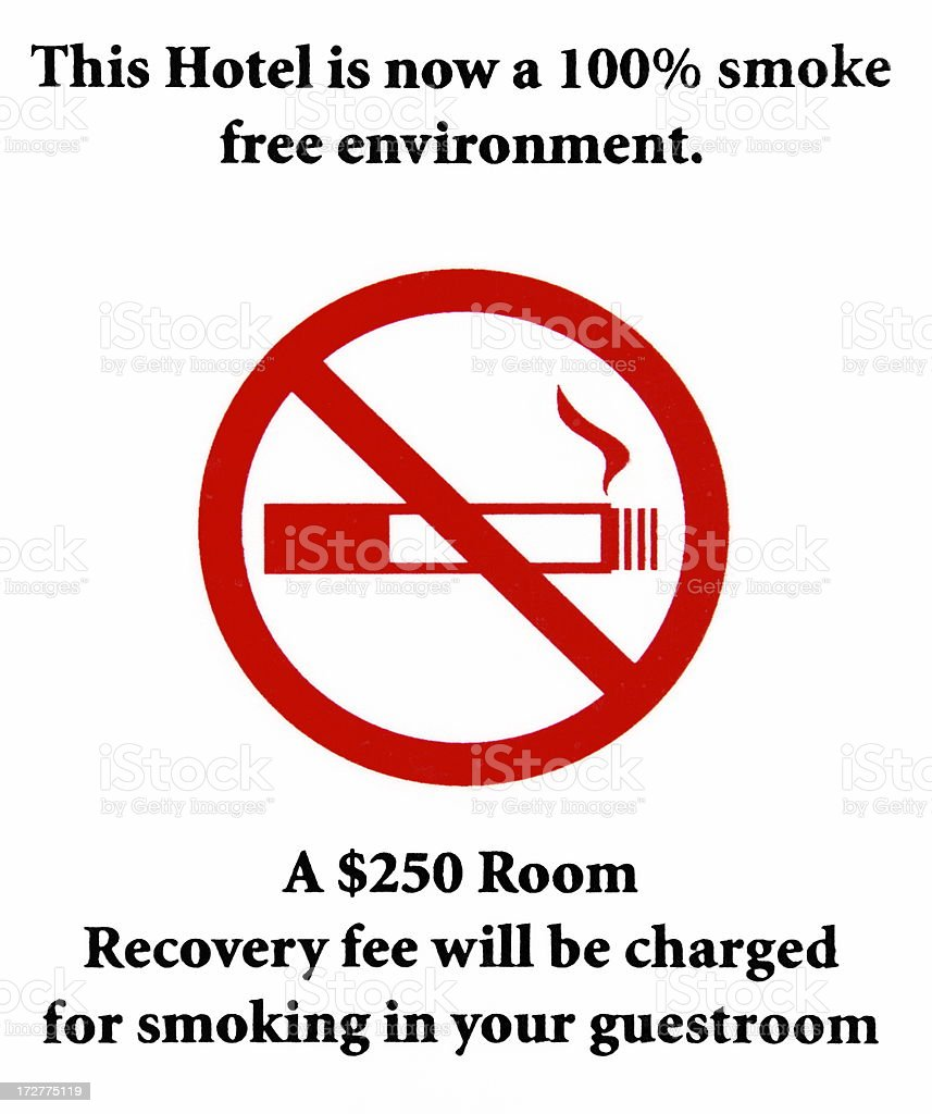 Cigarette Smoke Symbol Sign Hotel Penalty stock photo
